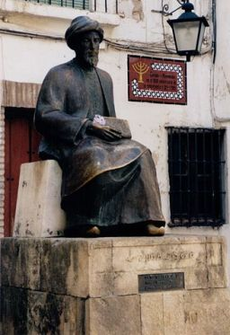 Statue of Moses Maimonides in Córdoba, Spain